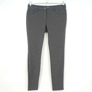 New York & Co Gray Stretch Knit Skinny Pants  (H8)